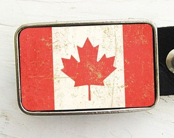 Flag of Canada Belt Buckle