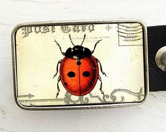 Vintage Ladybug Belt Buckle