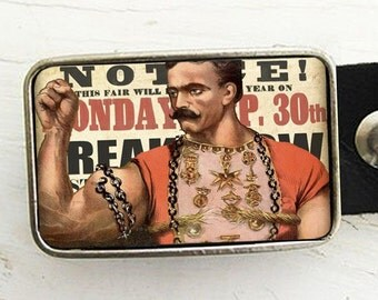 Circus Strongman Belt Buckle