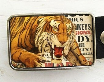 Circus Tiger Belt Buckle