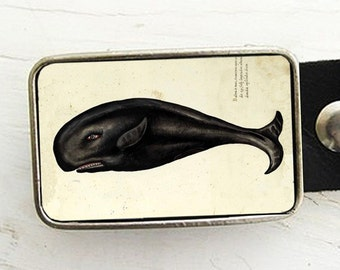 Vintage Whale Belt Buckle