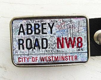 Abbey Road Belt Buckle - Graffiti Sign