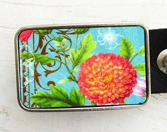 Vintage Mum Flower Belt Buckle-Shabby Chic