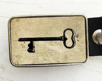 Vintage Skeleton Key Belt Buckle