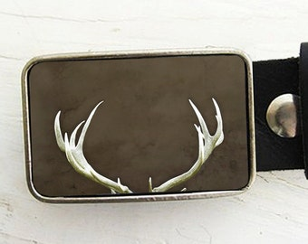Deer Antler Belt Buckle, 14, Collaboration with Raceytay