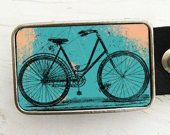 Bike Belt Buckle - Turquoise