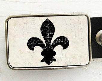 Fleur De Lis Belt Buckle- Vintage Style
