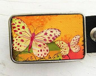 Butterfly Belt Buckle, Belt Buckle for Women