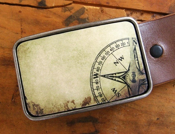 Vintage Nautical Compass Belt Buckle, Father's Day Gift