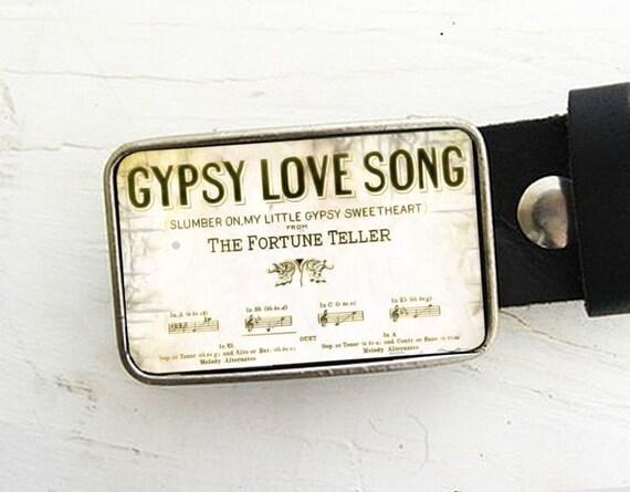 Gypsy Love Song Belt Buckle Boho Belt Buckle