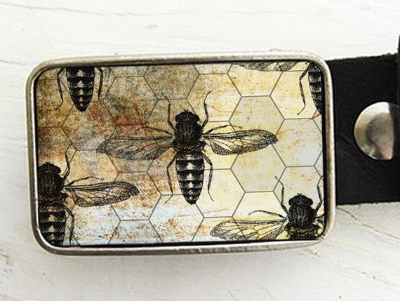 Bee Hive, Honeycomb Belt Buckle