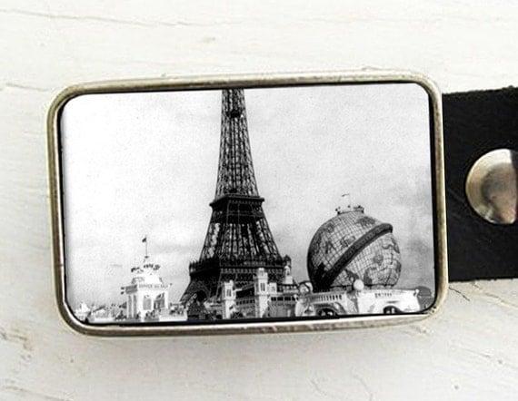 Leather Belt Buckle - Paris Exposition