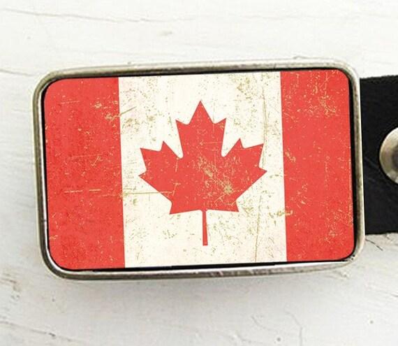 Flag of Canada Belt Buckle