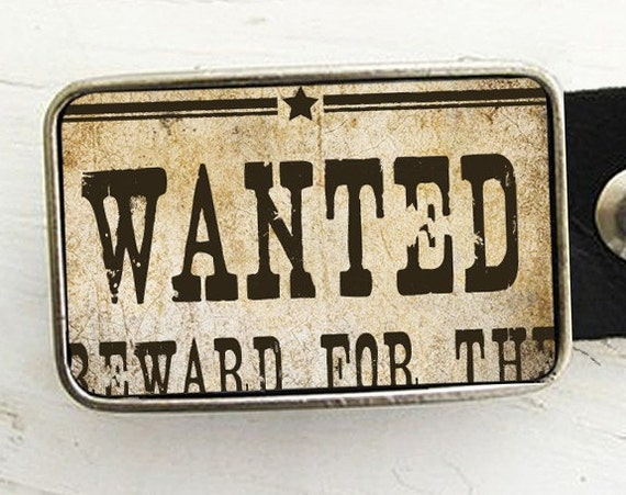 Wanted Poster Belt Buckle-