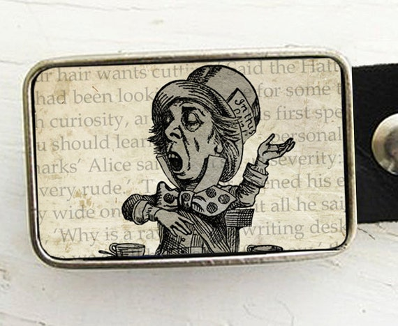The Mad Hatter Belt Buckle - In Sepia