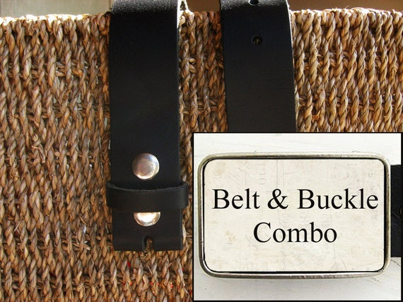 Bmused Belt Buckle with Belt- Combo (black)