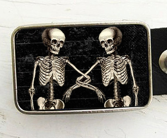 Belt Buckle Skeletons Halloween