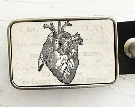 Anatomical Heart Belt Buckle
