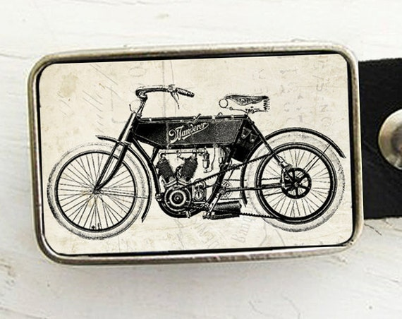 The Wanderer, Vintage Motorcycle Belt Buckle
