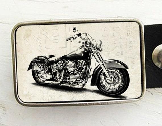 Retro Motorcycle Belt Buckle