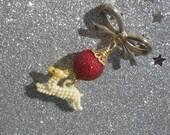 Run, Run Rudolph - Vintage Cracker Jack Reindeer Charm Pin
