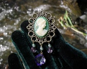 Anne's Diamonds, Violet Shimmer Cameo Brooch