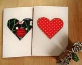 Eco friendly hand cut machine stitched card