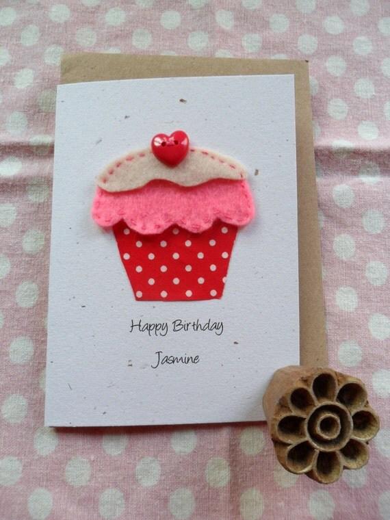 Eco friendly hand cut birthday card