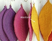 Large Leaf Earrings (mustard)
