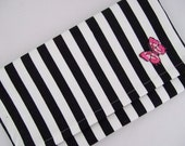 Striped Butterfly Clutch Bag