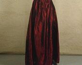 RESERVED for Muinn-long red taffeta skirt-size4