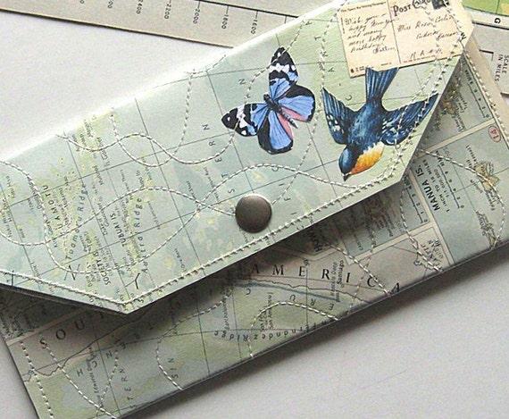 Map Wallet atlas paper and vinyl