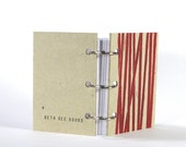 Little Blank Notebook - Red Lines