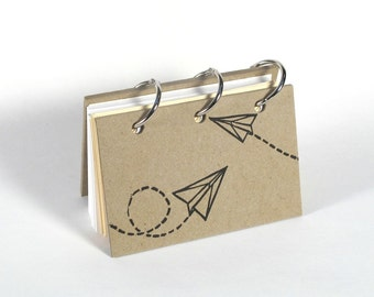 Card File Address Book (Paper Planes)