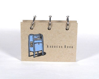 Card-File Address Book (Blue Post Box)