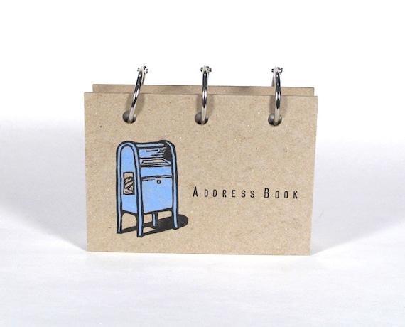Card-File Address Book (Blue Post Box)
