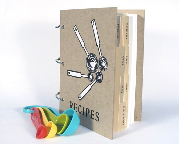 Blank Recipe Book - Measuring Spoons (5 in. x 7 in.) - Size No.2