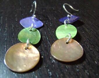 CLEARANCE !!! Carnival Shell Dangle Earrings