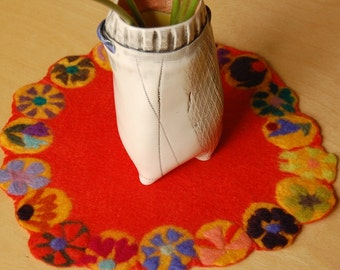 mini orange table runner