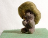 Inspector Mole needlefelted