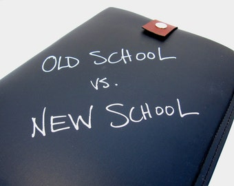 SALE - Chalkboard iPad Case - Old School vs New School - IN STOCK