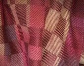 Reserved for Julie Mann  - Sunset Reflection No. 2 - Handwoven and Painted Silk Scarf