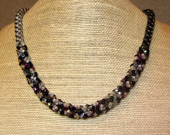 Black and White Harelquin Necklace