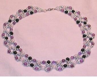 Gemstone Netted Collar