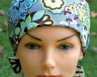 Scrub Hats // Scrub Caps // Scrub Hats for Women // The Hat Cottage // The Mini // Fabric Ties // Harmony