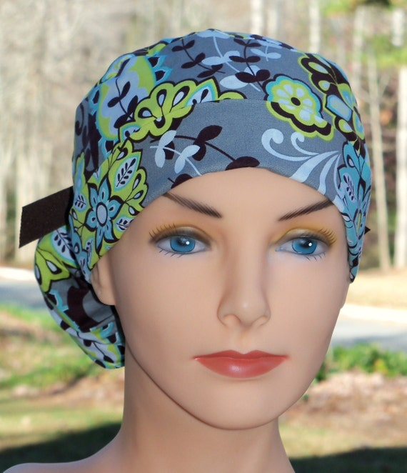 Modern Surgical Scrub Hat- Perfect Fit Ponytail- Harmony