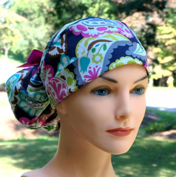 The Perfect Fit Ponytail Scrub Hat Original Design Best Fit Ever Pony Pouch-Boho
