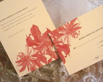 French Gardens Wedding Collection - Invitation and Reply Card -also comes in Save The Date, Wedding Program, Menu and Thank You Cards
