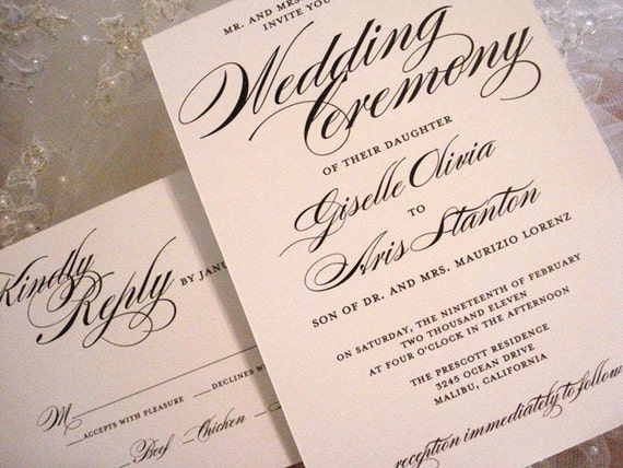 Items Similar To Wedding Invitation The Great Gatsby
