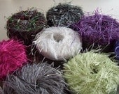 STUDIO CLEANING SALE - 11 Skeins of Flutter Yarn by Knitting Fever